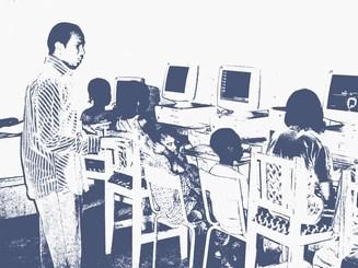 Formation de jeunes élèves de Moribabougou, avril 2009