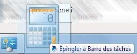 Epingler une icone sur la barre des tâches de Windows 7
