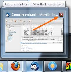 Fermer un programme via la barre des tâches (Windows 7)