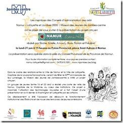 Projet citoyen MJ JAMBES - invitation présentation juin 2010